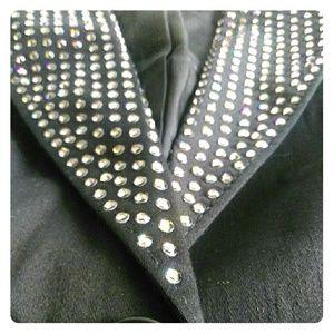 Gorgeous Bebe rhinestone studded black jacket
